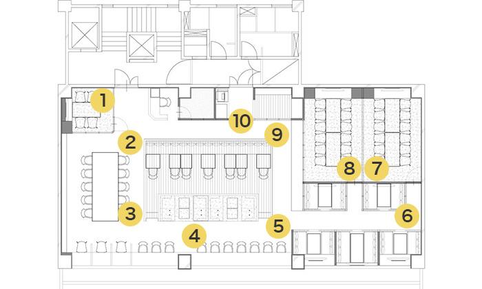 上野店 店内マップ